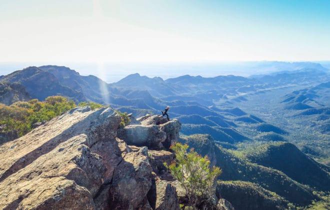 Flinders Range depuis le pic Sainte Marie