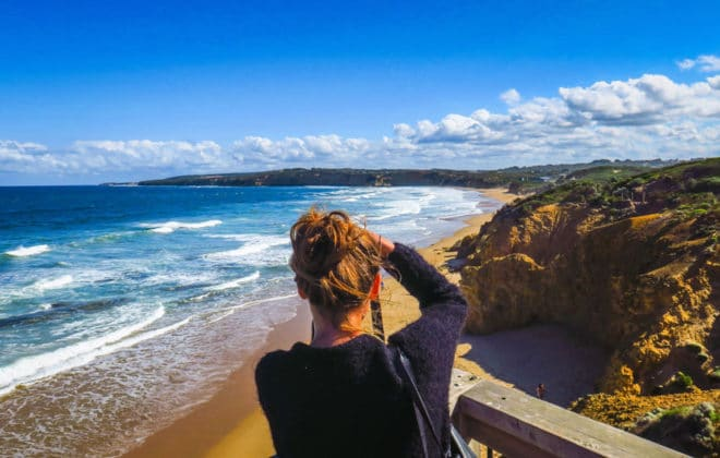 Plage de Bells Beach sur la Great Ocean Road