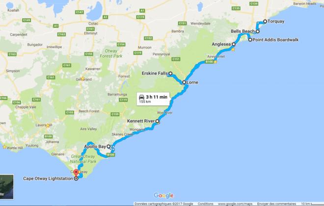 Itinéraire Est de la Great Ocean Road