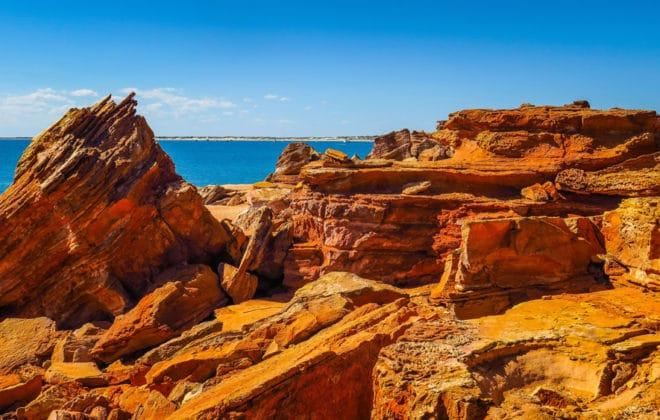 Falaises à Broome, Australie-Occidentale