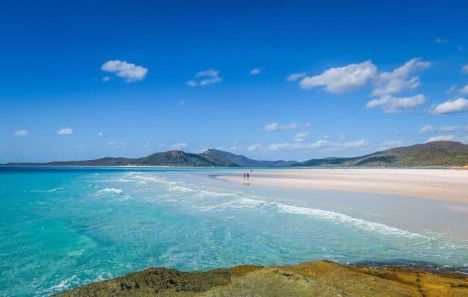 Plage de Whitehaven dans les Whitsunday Islands