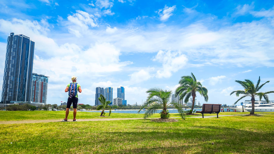 La Gold Coast, entre buildings et palmiers